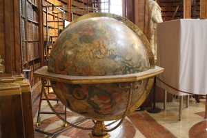 Globe in Austrian National Library