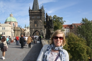 Jane on the Charles Bridge