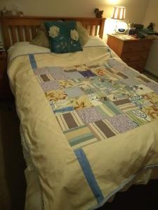 Jane's homemade quilt